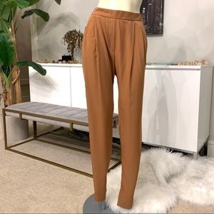 NEW Zara silky tapered trousers size medium